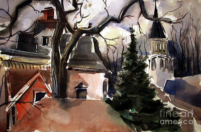 St. Charles Borromeo Church From Hill's Alley Art Print by Charlie Spear