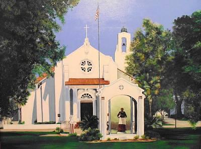 Borromeo Painting - St. Charles Borromeo Church by Stephen Broussard