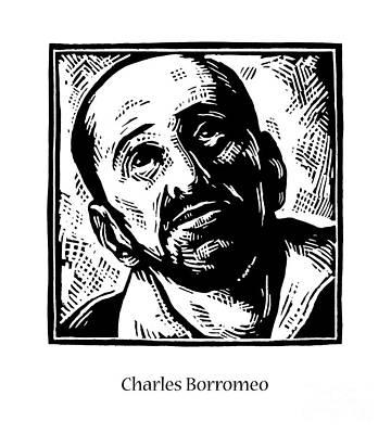 Painting - St. Charles Borromeo - Jlchb by Julie Lonneman