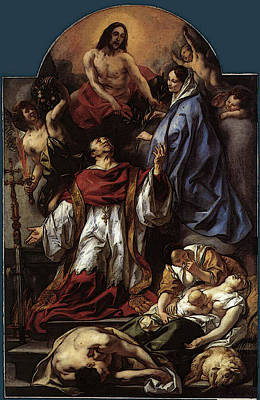 St. Charles Digital Art - St Charles Cares For The Plague Victims Of Milan  by Jacob Jordaens
