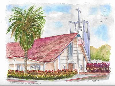 San Carlos Painting - St. Charles Catholic Church, San Diego, California by Carlos G Groppa