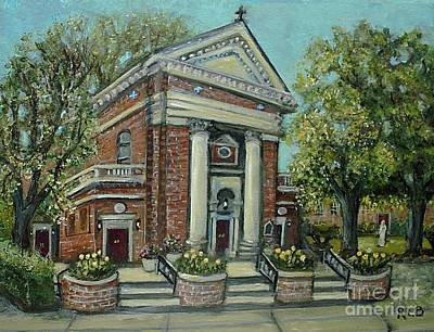 Painting - St. Charles Church In Springtime by Rita Brown