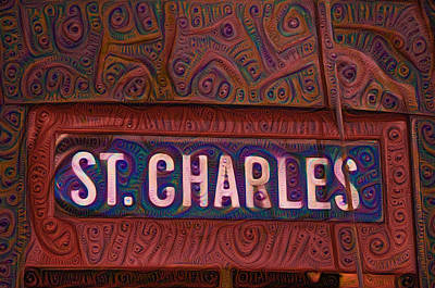 Garden District Painting - St Charles Line by Bill Cannon