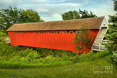 Photograph - St Charles Red And Green Scene by Adam Jewell