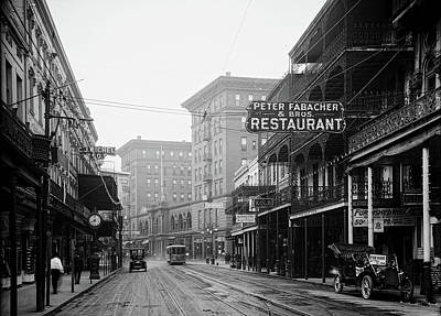 Photograph - St Charles Street - New Orleans C1910 by Mountain Dreams