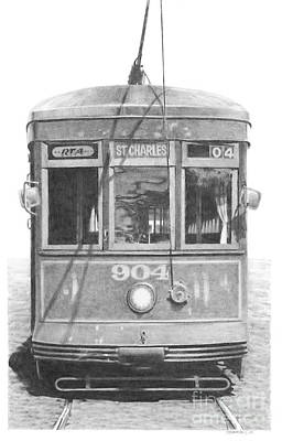 St. Charles Streetcar Art Print