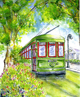 Painting - St. Charles Streetcar New Orleans by Catherine Wilson