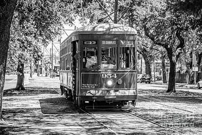 Photograph - St Charles Trolley Line by Rene Triay Photography