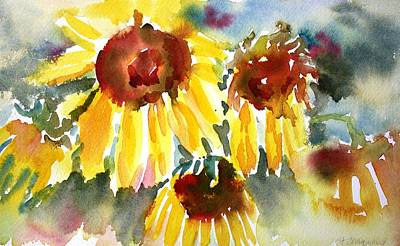 Painting - St. Charmand Sunflowers by Tara Moorman