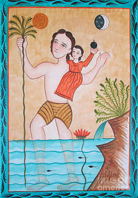 Painting - St. Christopher - Aochs by Br Arturo Olivas OFS