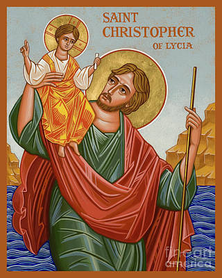 Painting - St. Christopher - Jccst by Joan Cole