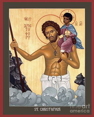 Painting - St. Christopher - Rlctr by Br Robert Lentz OFM