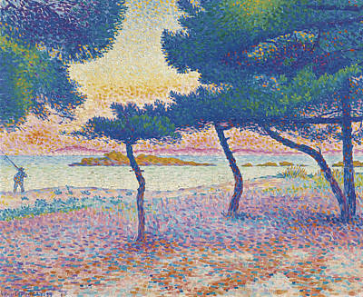 Pointillist Painting - St. Clair Beach by Henri-Edmond Cross