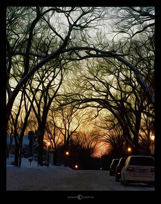 Photograph - St. Clair Winter Sunset by Tim Nyberg