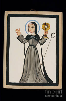 Painting - St. Clare Of Assisi - Aocla by Br Arturo Olivas OFS