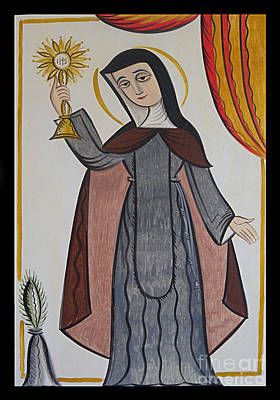 St. Clare Painting - St. Clare Of Assisi - Aocls by Br Arturo Olivas OFS