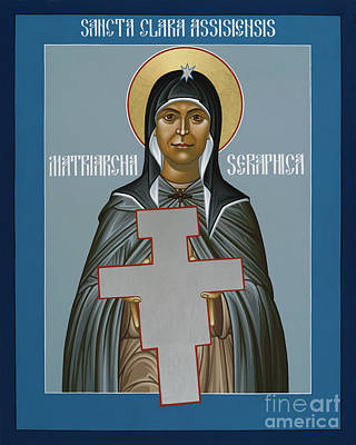 Painting - St. Clare Of Assisi - Seraphic Matriarch - Rlcsm by Br Robert Lentz OFM