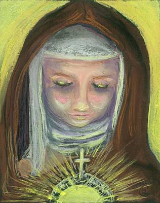 St. Clare Of Assisi Art Print by Susan  Clark