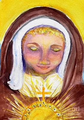 St. Clare Painting - St. Clare by Susan  Clark