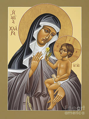 Painting - St Clare's Apparition Of The Holy Child 027 by William Hart McNichols