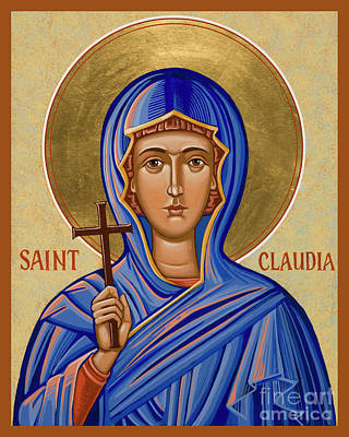 Painting - St. Claudia - Jcclu by Joan Cole