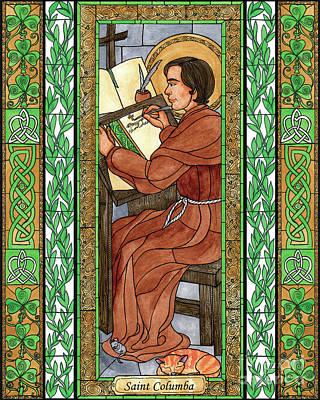Painting - St. Columba by Brenda Nippert