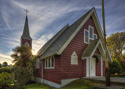 Photograph - St. Columba Church - Tofino by Mark Kiver