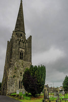 Photograph - St Columbia's Bell Tower, Kells, Ireland by Elvis Vaughn