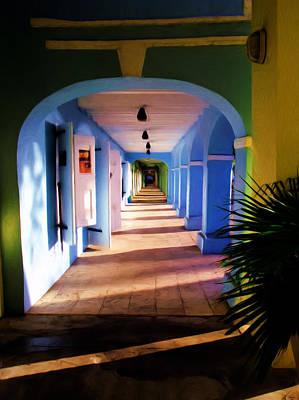 Walkway Digital Art - St. Croix Arches  by Linda Morland