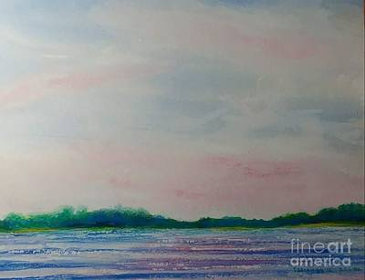 Wall Art - Painting - St. Croix Sunset by Debra Link