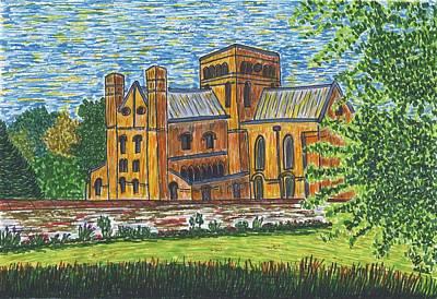 St Cross Church Winchester Art Print by Pat Walden