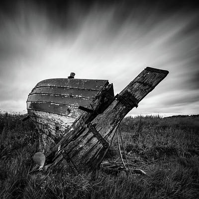 Black And White Flower Photography - St Cyrus Wreck by Dave Bowman