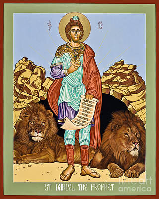 Holy Trinity Icon Painting - St. Daniel In The Lion's Den - Lwdld by Lewis Williams OFS
