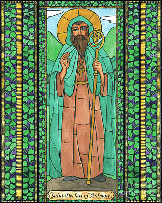 Painting - St. Declan Of Ardmore by Brenda Nippert