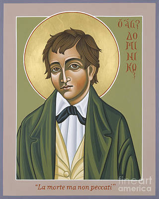 Painting - St Dominic Savio  Patron Of Juvenile Delinquents 130 by William Hart McNichols