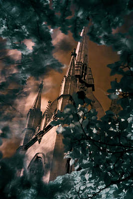 Photograph - St Dunstan In The East Tower by Helga Novelli