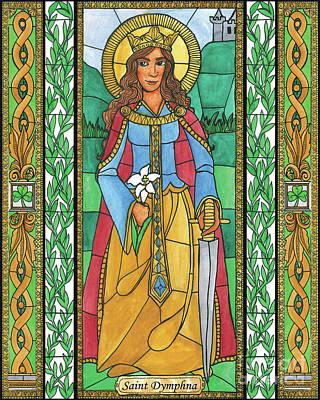 Painting - St. Dymphna by Brenda Nippert