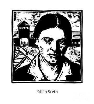 Painting - St. Edith Stein - Jledt by Julie Lonneman