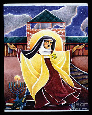 Painting - St. Edith Stein - Mmedi by Br Mickey McGrath OSFS