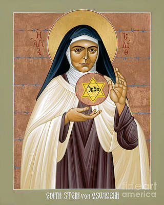 Painting - St. Edith Stein Of Auschwitz - Rleds by Br Robert Lentz OFM