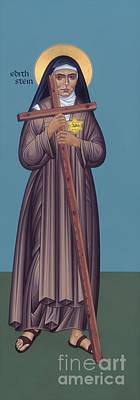 Painting - St. Edith Stein - Rlste by Br Robert Lentz OFM