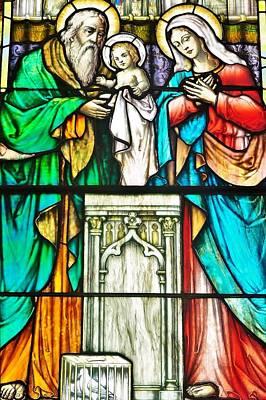 St. Edmond's Church Stained Glass Window - Rehoboth Beach Delaware Print by Kim Bemis