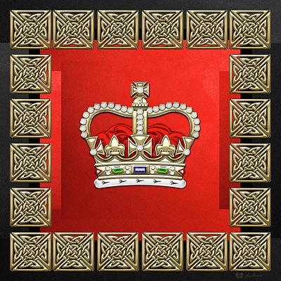 Digital Art - St Edward's Crown - British Royal Crown  by Serge Averbukh