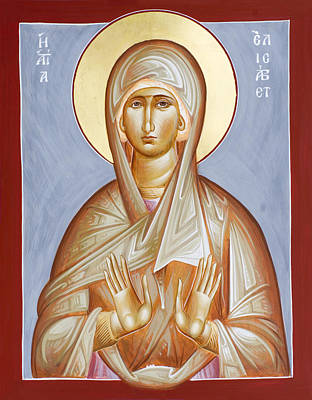Byzantine Icon Painting - St Elizabeth by Julia Bridget Hayes