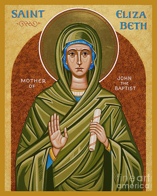 Painting - St. Elizabeth, Mother Of John The Baptizer - Jcemj by Joan Cole