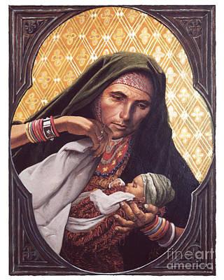 Painting - St. Elizabeth, Mother Of John The Baptizer - Lgelz by Louis Glanzman