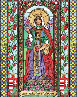 Painting - St. Elizabeth Of Hungary by Brenda Nippert