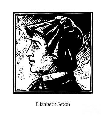 Painting - St. Elizabeth Seton - Jleli by Julie Lonneman