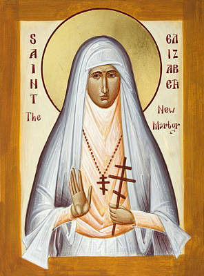 Painting - St Elizabeth The New Martyr by Julia Bridget Hayes