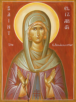 Egg Tempera Painting - St Elizabeth The Wonderworker by Julia Bridget Hayes